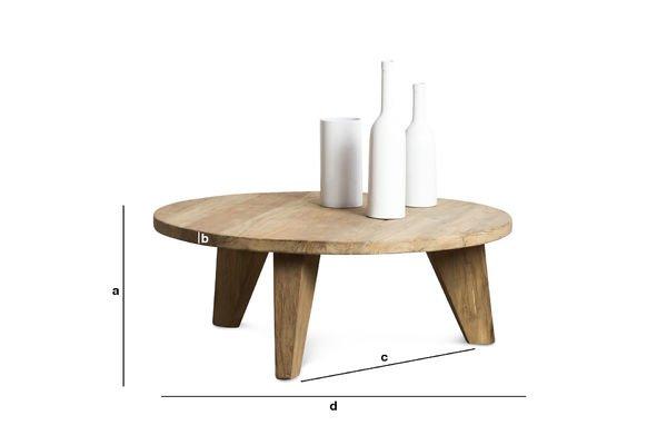 Dimensiones del producto Mesa de centro Hërkal
