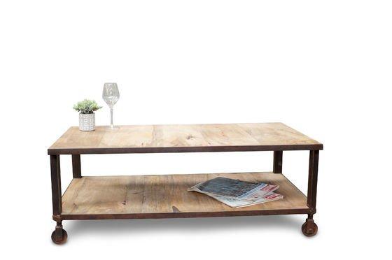Mesa de centro industrial art mesa de acero y madera con Mesas industriales vintage