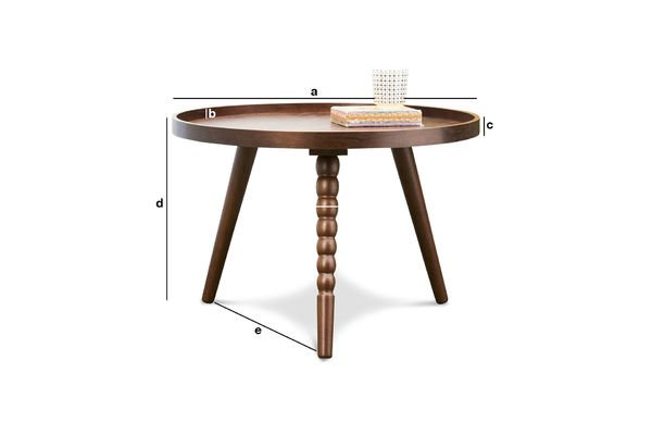 Dimensiones del producto Mesa de centro Katalina