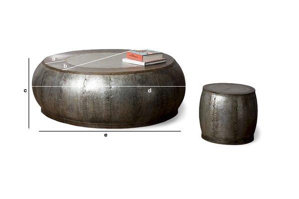 Dimensiones del producto Mesa de centro metálica Tubisteel