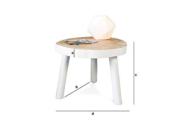 Dimensiones del producto Mesa de centro Nederland