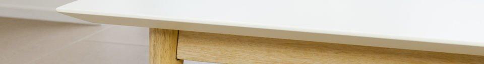 Descriptivo Materiales  Mesa de centro rectangular Fjord