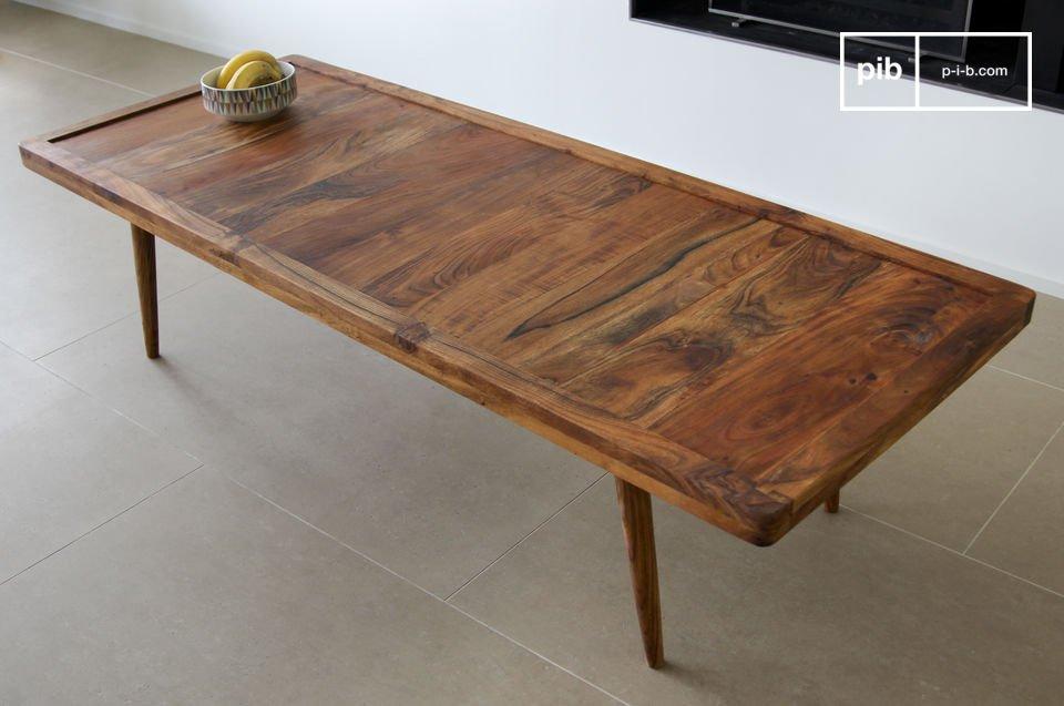 Esta elegante mesa de centro está inspirada en el diseño escandinavo vintage
