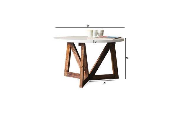 Dimensiones del producto Mesa de centro W