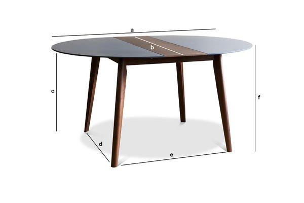 Mesa de comedor cristina elegante y ajustable pib for Mesas comedor escandinavas