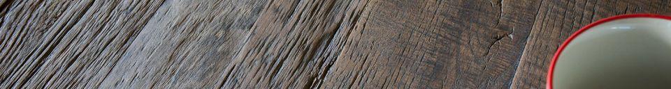 Descriptivo Materiales  Mesa de comedor de madera natural Sherman