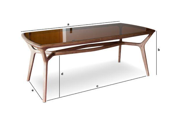 Dimensiones del producto Mesa de comedor de madera y vidrio Dagsmark