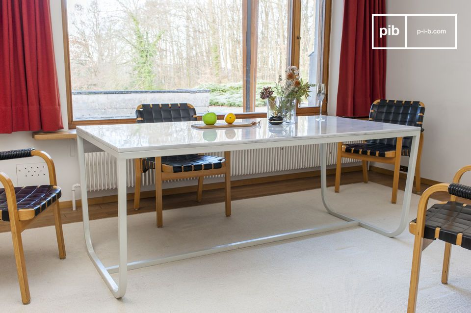 Mesa de comedor de mármol nórdico Gällo