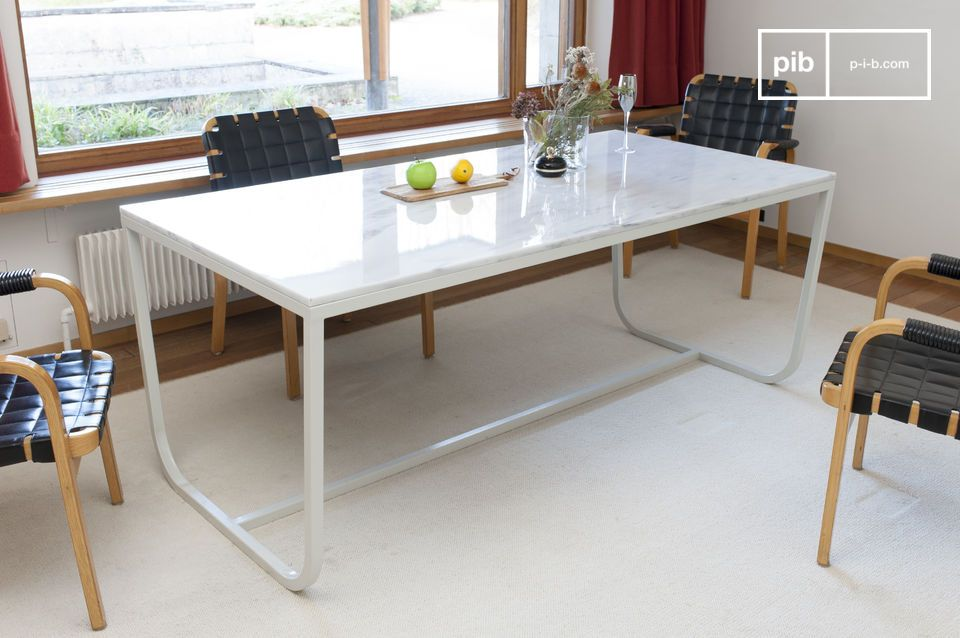 Mesa de comedor de mármol nórdico Gällo | pib