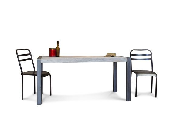 Mesa de comedor de teca reciclada Clipped