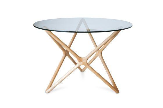 Mesa de comedor de vidrio Estrella Clipped