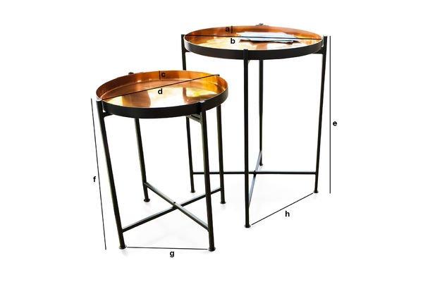 Dimensiones del producto Mesa de dos piezas Lloyd
