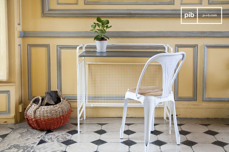 Esto permite la creación del estilo perfectamente retro evocativo de las antiguas mesas de la