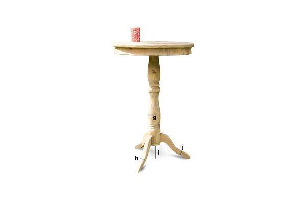 Dimensiones del producto Mesa de madera Adèle