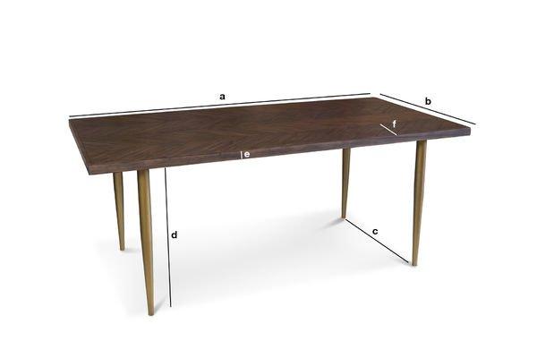 Dimensiones del producto Mesa de madera Alienor