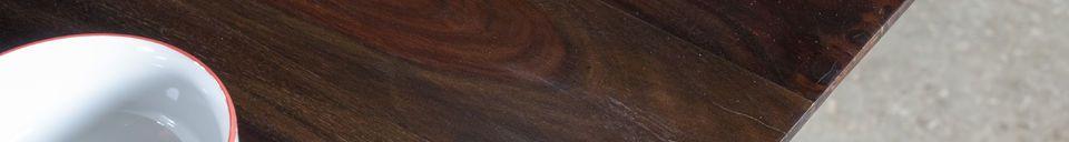 Descriptivo Materiales  Mesa de madera barnizada Espazio