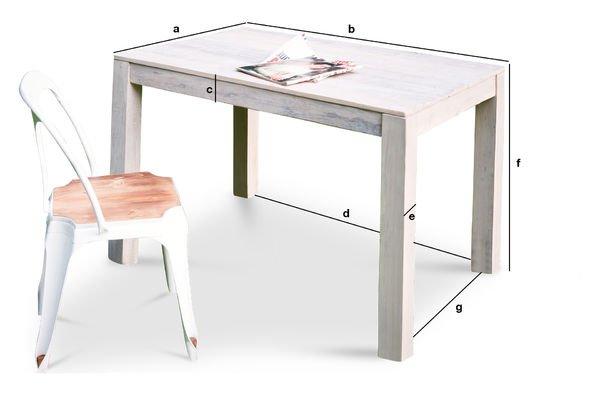 Dimensiones del producto Mesa de madera Epicure