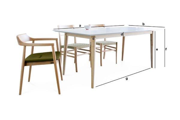 Dimensiones del producto Mesa de madera Fjord