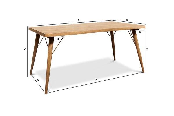 Dimensiones del producto Mesa de madera Jotün