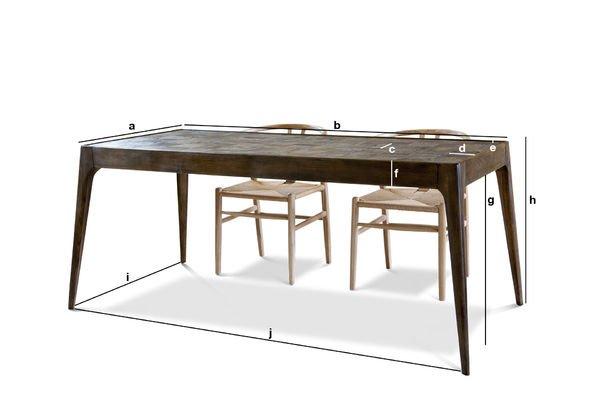 Dimensiones del producto Mesa de madera Tabüto