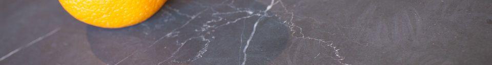 Descriptivo Materiales  Mesa de sofá en mármol negro Vilma