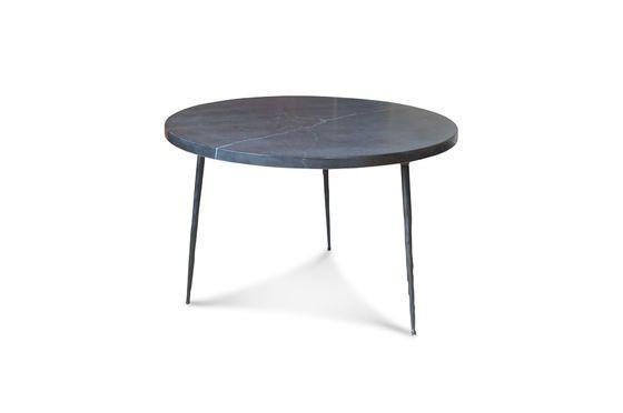 Mesa de sofá en mármol negro Vilma Clipped