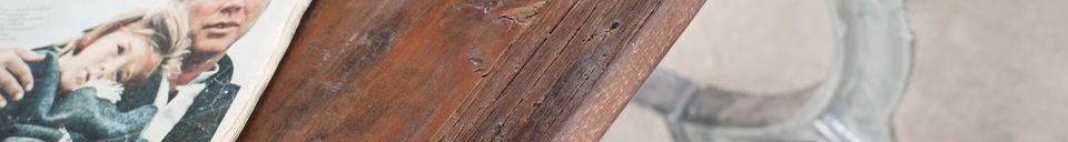 Descriptivo Materiales  Mesa de teca antigua Tonnel