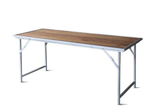 Mesa de teca Bollène Clipped