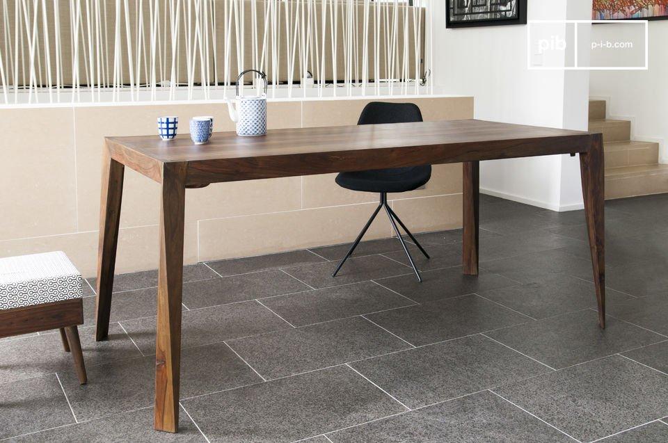 La elegancia de una mesa vintage escandinava