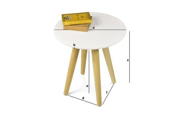 Dimensiones del producto Mesa ocasional Beel
