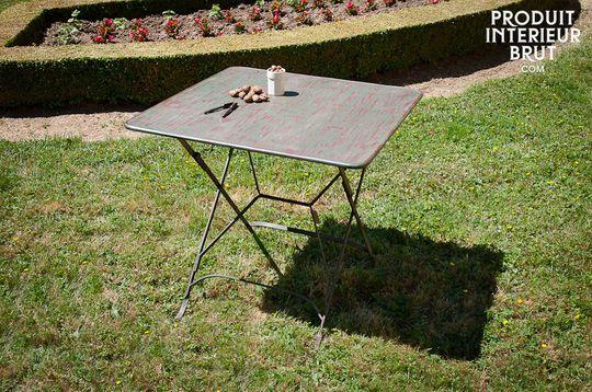 Mesa plegable con estilo Vintage