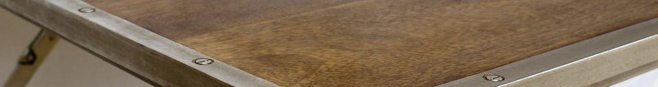 Descriptivo Materiales  Mesa plegable de roble y acero