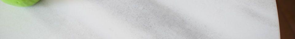 Descriptivo Materiales  Mesa redonda de mármol blanco Lemvig