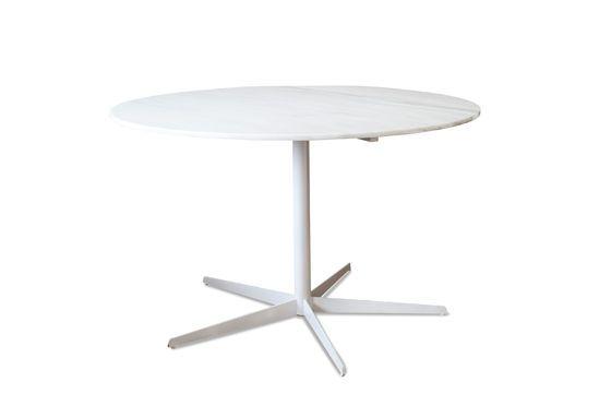 Mesa redonda de mármol blanco Lemvig Clipped