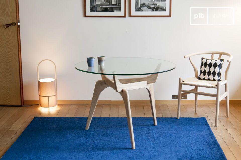 Mesa redonda de vidrio Parkano