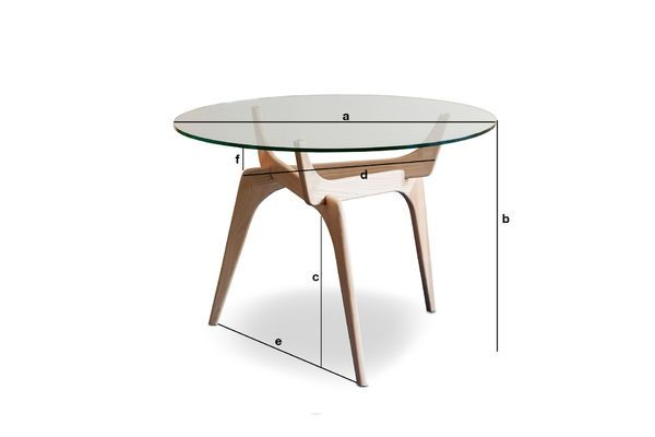 Dimensiones del producto Mesa redonda de vidrio Parkano