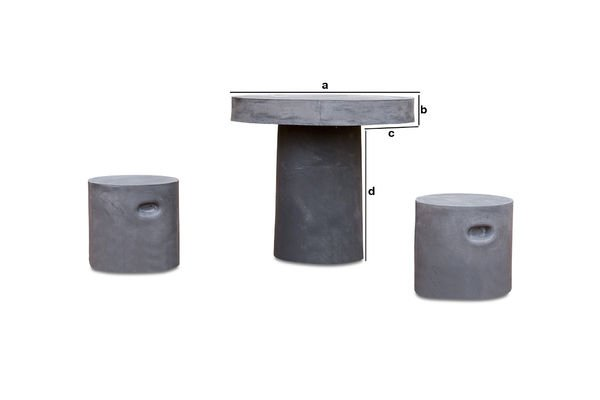 Dimensiones del producto Mesa redonda Smaton