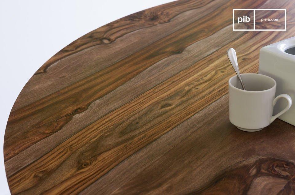La mesa madera maciza redonda Starbase será un complemento perfecto para su interior debido a su
