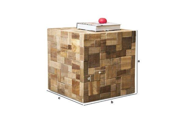 Dimensiones del producto Mesa Rubique