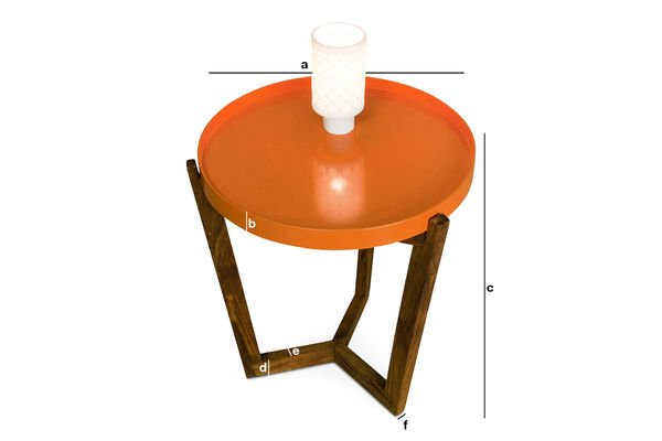 Dimensiones del producto Mesa Stockholm con tapa removible