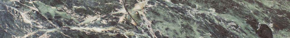 Descriptivo Materiales  Mesa trípode de mármol verde Maybury