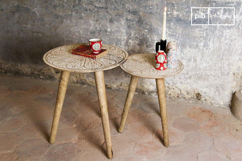 La mesa Trundle Minelle es un magnífico dúo lleno de encanto bohemio que agregará un elemento