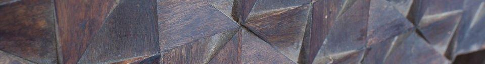 Descriptivo Materiales  Mesilla de noche de madera Balkis