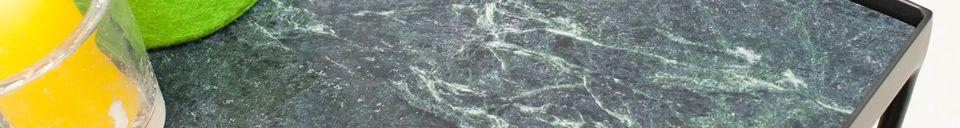 Descriptivo Materiales  Mesita Bumcello en mármol verde