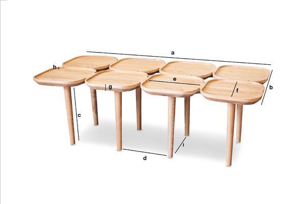 Dimensiones del producto Mesita de madera Kädri