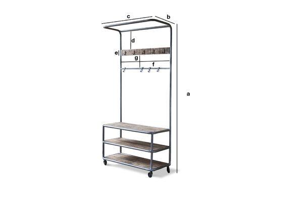Dimensiones del producto Midtown Locker con Ruedas