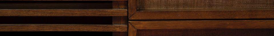 Descriptivo Materiales  Mueble audiovisual de madera Jake