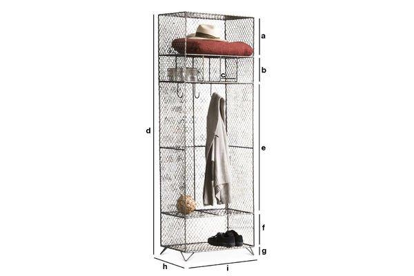 Dimensiones del producto Mueble de rejilla metálica Ontario