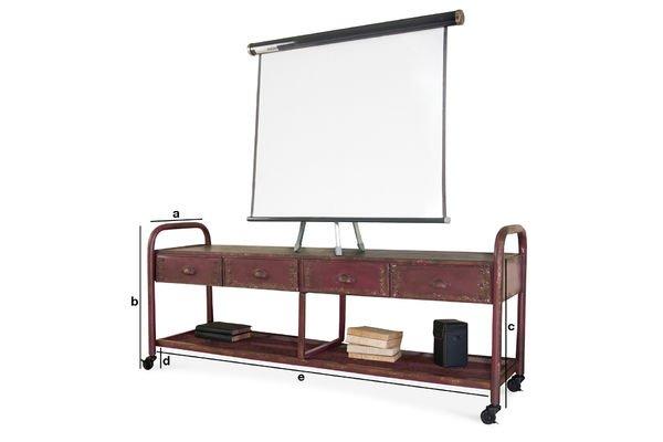 Dimensiones del producto Mueble de TV Industrial Patinado