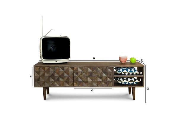 Dimensiones del producto Mueble TV Balkis